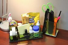 2 Stationary Desk Supplies Organizer Storage Box Candy Cookie Cellphon Pen Snack