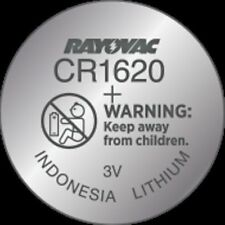 Rayovac CR1620 Lithium Battery  3 Volt 1 Pack KECR1620-1