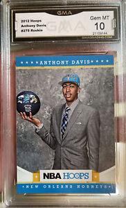 2012 Panini NBA Hoops Rookie Anthony Davis Gem Mint 10 #275 Lakers All Star