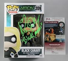 KATIE CASSIDY SIGNED BLACK CANARY ARROW FUNKO POP FIGURE DC CW AUTOGRAPH JSA COA