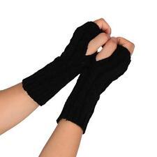 Fashion Unisex Women Gloves Knitted Fingerless Winter Gloves Soft Warm Mittens