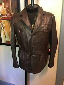 Vintage 50s Guiterman Bros Leather Windbreaker Jacket USA Mens CS 40  Dayton's