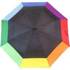 Giant RAINBOW Automatic Opening Golf Stick Umbrella 135 cm diameter