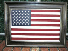 American flag Custom made  with Leather. High Quality  UNIQUE GIFT Brown