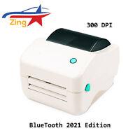 Zing® Bluetooth Direct Thermal Label Printer 300DPI Auto Portable 150mm 4x6 2021