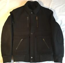 Air à la surface veste homme noir cachemire/laine large