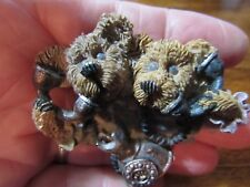 """pin broach brooch about 2""""x3"""" Boyd-style ceramic bears on telephones"""