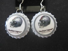 "1"" Bottle Cap Earrings ~ Buckeyes ~ **Gift Idea"