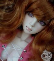 Bjd Wig 1 3 8-9 Dal Pullip BJD SD LUTS supper Dollfie Doll Toy Orange Hair