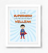 Personalised Superhero Name Picture Print - Superman