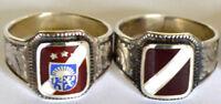 Latvian flag silver ring