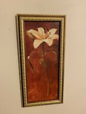 2 Plastic Gold & Bronze Hanging Picture Framed One Lily 5 1/2� X 11 1/2� Only5oz
