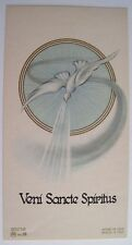 Gorgeous Italian Art Deco Holy Card with Dove - Near Mint Condition *