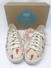 Kate Spade Shoes Keds Seahorse Sneakers Size 6 Extra Laces Boxed Summer Fun