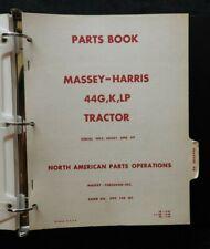 1953-64 MASSEY HARRIS M-H 44 G K LP DIESEL GAS LP TRACTOR PARTS & SERVICE MANUAL