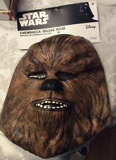 STAR WARS  CHEWBACCA ADULT DELUXE MASK. DISNEY. BRAND NEW SHIPS  FAST