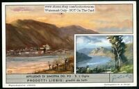 Oglio Rivrer  Po River Valley Lombardy Italy 60+ Y/O Trade Ad Card