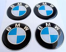 BMW 4 x 60mm Silikon Emblem Felgen Aufkleber Nabendeckel Nabenkappen