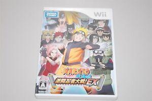 NARUTO Shippuden Gekitou Ninja Taisen EX Japan Nintendo Wii game NTSC-J