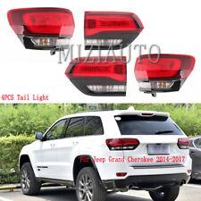 4PCS LED Tail Light For Jeep Grand Cherokee SRT 2014-2017 Brake Rear Lamp Stop