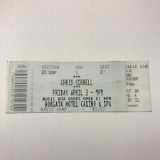 Chris Cornell Borgata Hotel Casino And Spa Concert Ticket Stub April 3 2009