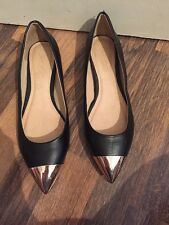 Gorgeous Black And Gold Pumps Aldo Size 3 RRP £45 Worn Once