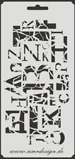 Scrapbooking gabarit s-160 lettres ~ stencil ~ umr-DESIGN