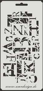 Scrapbooking Schablone S-160  Buchstaben ~ Stencil ~ UMR-Design