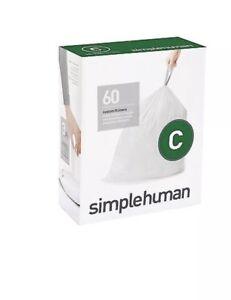 Simplehuman Code C Bin liners, CW0252 (Box of 60)