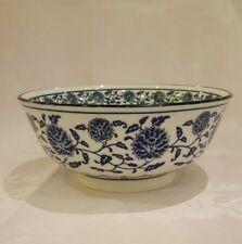 A Large Blue & White Poorcelain/China Noodles/Soup/Fruit bowl 20x13cmBrand New