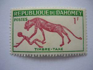 1966 Republique du Dahomey Benin Timbre Taxe 1 F Briefmarke ungestempelt