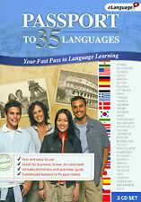 Passport to 35 Languages Educational CD by eLanguage * New Ship Free