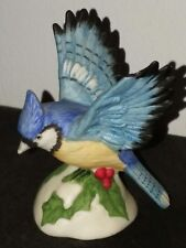 Homco Porcelain Blue Jay Bird Figurine #1453 Collectable Gift - Mint Condition🕊