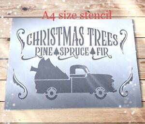 Christmas  Stencil Xmas Stencil Sign Festive Decor Santa Template Card Craft