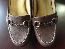 Softspots 9.5 Wide Women��s Shoes Brown 3 Inch Heels