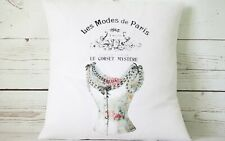 """Floral French Corset - 16"""" cushion cover French shabby chic"""