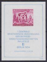DDR Block 10III **, PF Plattenfehler, 1954, postfrisch mit Gummifehlern