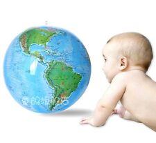 "FD629 15"" Globe Inflate Inflatable Earth World Teacher Beach Ball Geography Toy@"