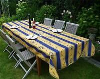 Tischdecke Provence 150x350 cm blau gelb Oliven aus Frankreich, pflegeleicht