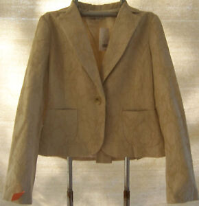 NWT Banana Republic Beige Jacquard Jacket Misses size 6 Wool blend