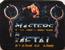 MASTERS OF METAL Vtg 1980`s Sew On Patch Manowar(not shirt lp cd badge festival)