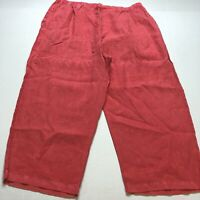 Fresh Produce Red Crop Pull On Elastic Waist Pants Plus Size 2X A2169
