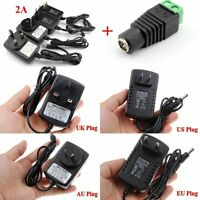 2A AC DC 12V Power Supply Adapter Charger Transformer for 3528/5050 LED Strip