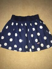 LOVELY HOLLISTER  Summer  Spotty Skirt navy blue size XS holiday 100% cotton