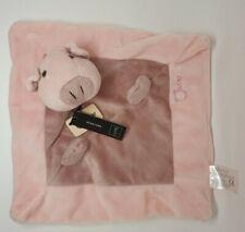03 - DOUDOU PLAT COCHON ROSE OSCAR J-LINE JLINE PIG PINK NEUF