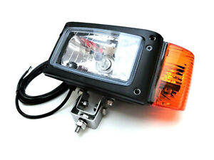 Links H4 Scheinwerfer mit Blinker Omegahalter 24V für Radlader Bagger JCB Merlo