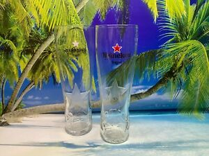Set Of 2 x Heineken Pint Glasses 20oz Brand New 100% Genuine CE Marked Nucleated