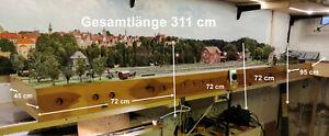 ➽ Modellbahnanlage H0 aus 4 Modulen, Gesamtlänge 311 cm Tillig / Peco Gleise