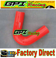 """3""""  76mm 135 degree Elbow bend intercooler turbo joiner Silicone hose pipe RED"""