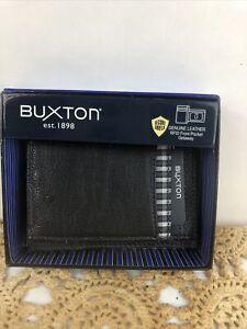 Buxton Men's Tulsa RFID Blocking Front Pocket Get-away, Black New In Box